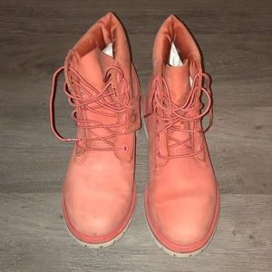 Timberland watermelon leather boot